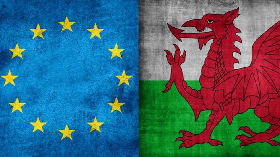 Baneri Cymru a'r UE