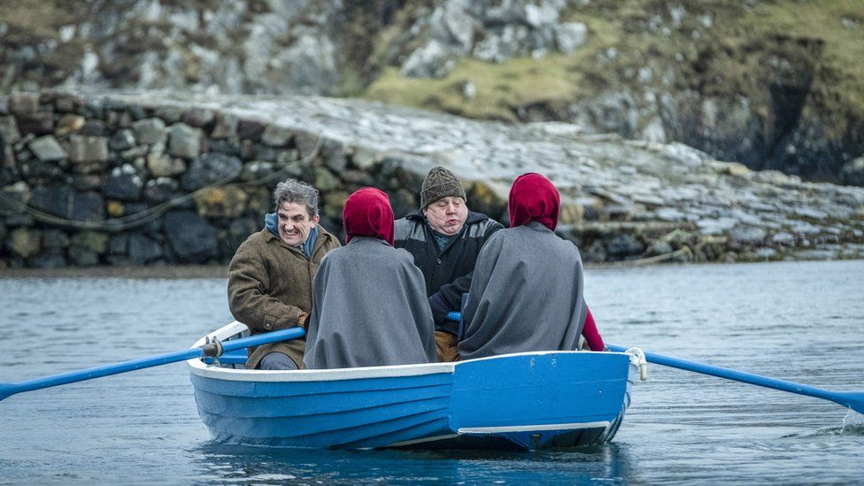 Call the Midwife characters on a boat