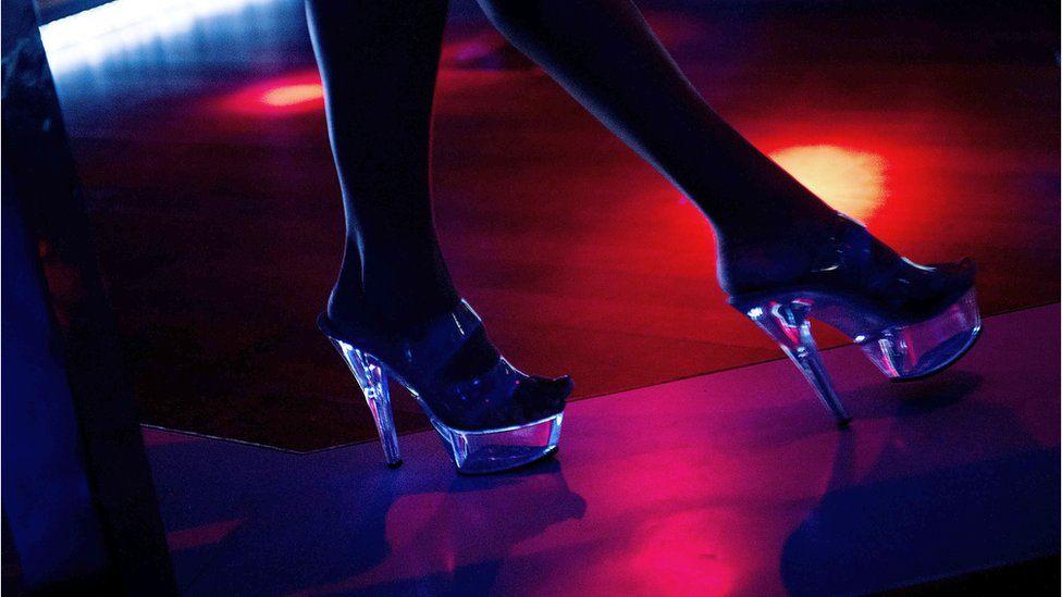 Picture of a lap dancers shoes