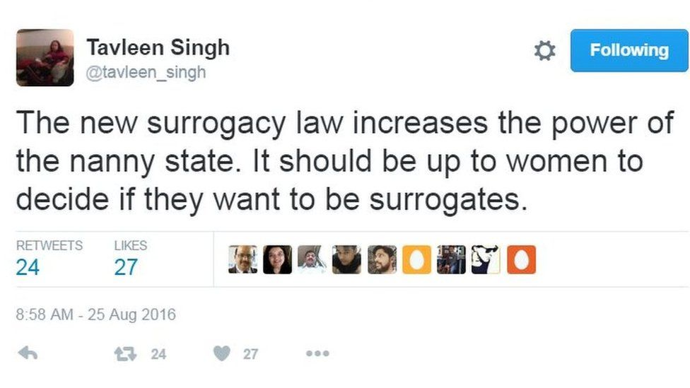 The new surrogacy law increases the power of the nanny state. It should be up to women to decide if they want to be surrogates.