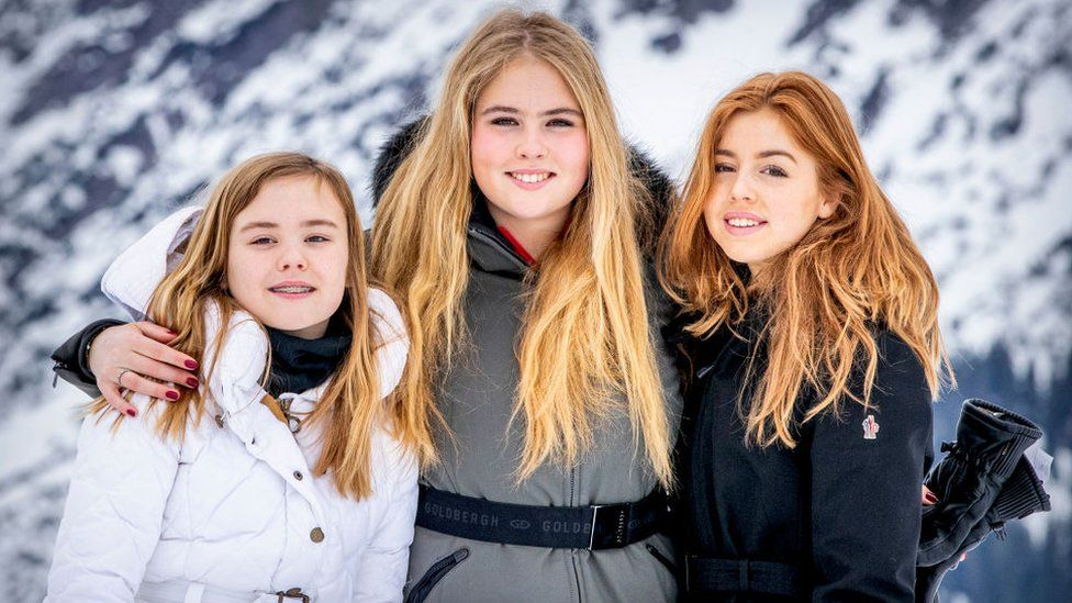 (L-R) Princess Ariane of The Netherlands, Princess Amalia of The Netherlands, Princess Alexia of The Netherlands