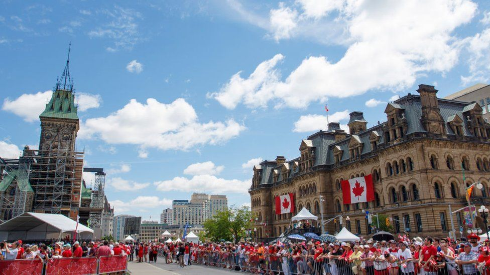 Canada Day celebrations at Parliament Hill on 1 July, 2019 in Ottawa, Canada