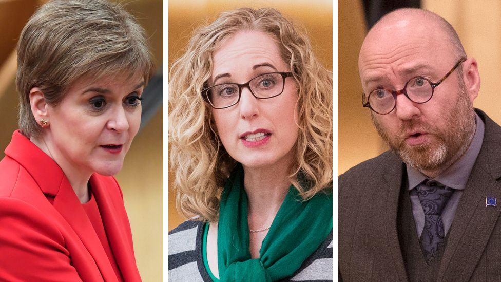 Nicola Sturgeon, Lorna Slater and Patrick Harvie