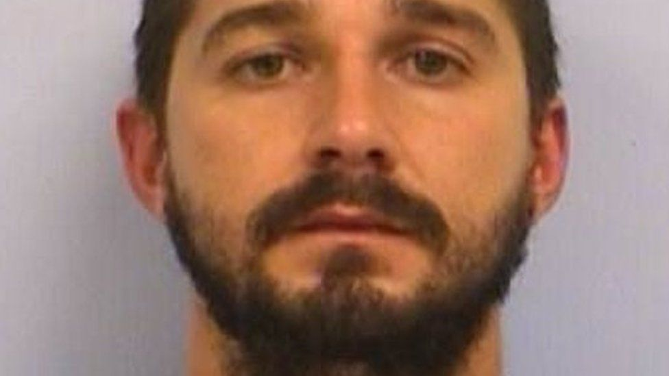 Shia LaBeouf is seen in a mugshot after an arrest for public intoxication in Austin, Texas (09 October 2015)