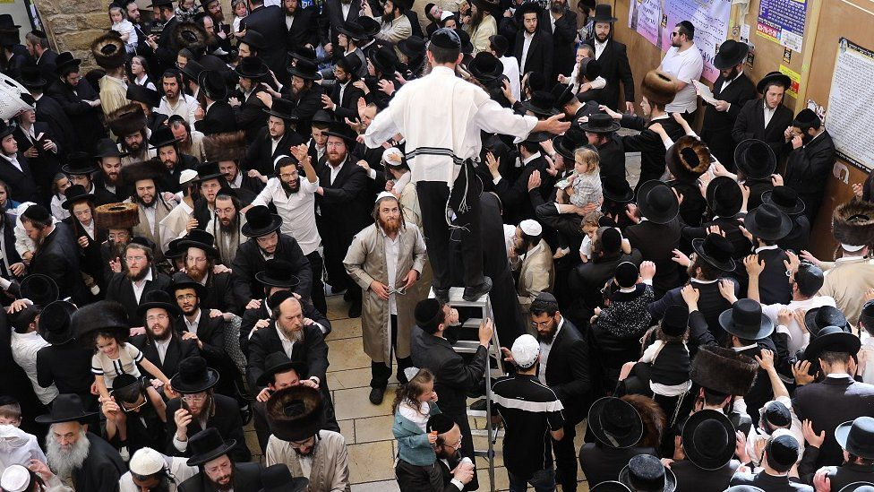 "Ultra Orthodox Jews celebrate the Jewish holiday of Lag Ba""Omer"