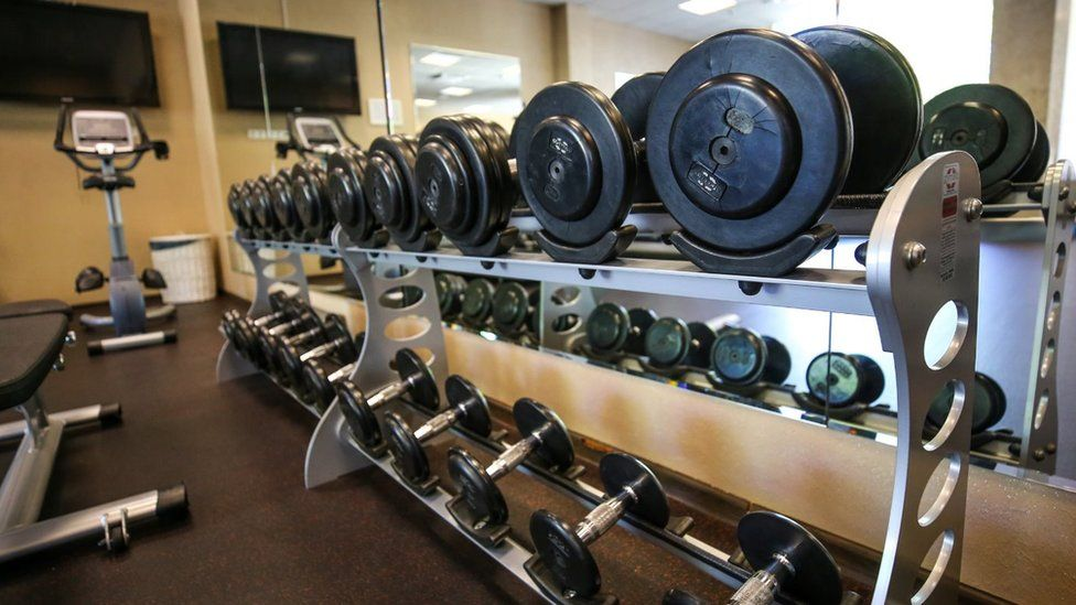 Generic gym stock photo
