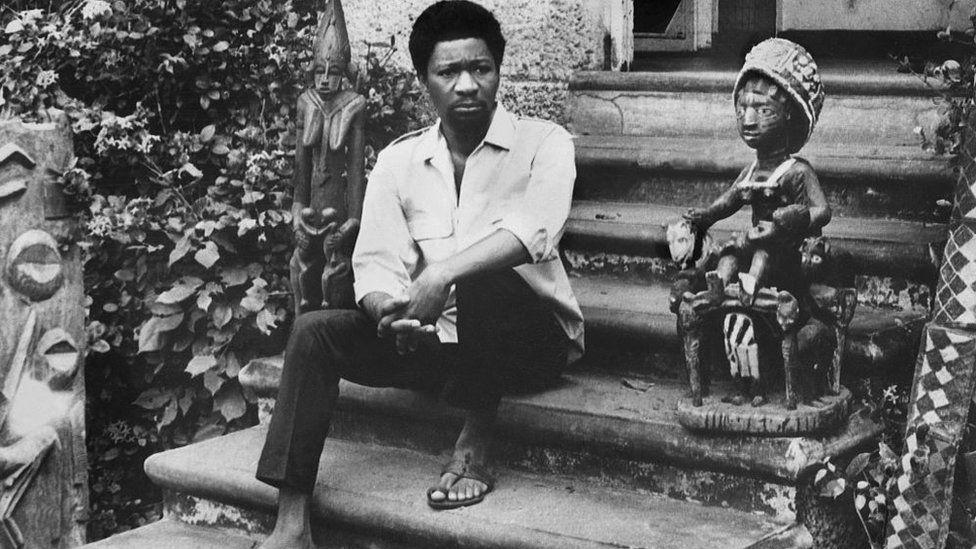 Old photo of Wole Soyinka