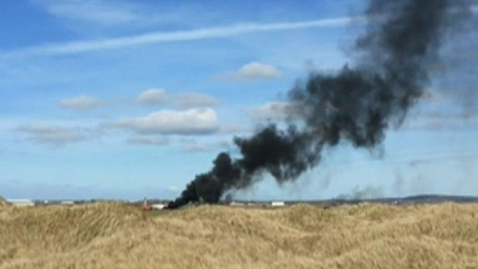 Smoke coming from RAF Valley