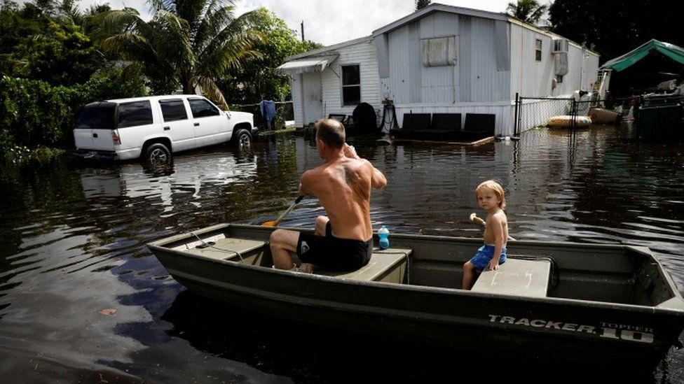 Residents face flooding in Davie, Florida