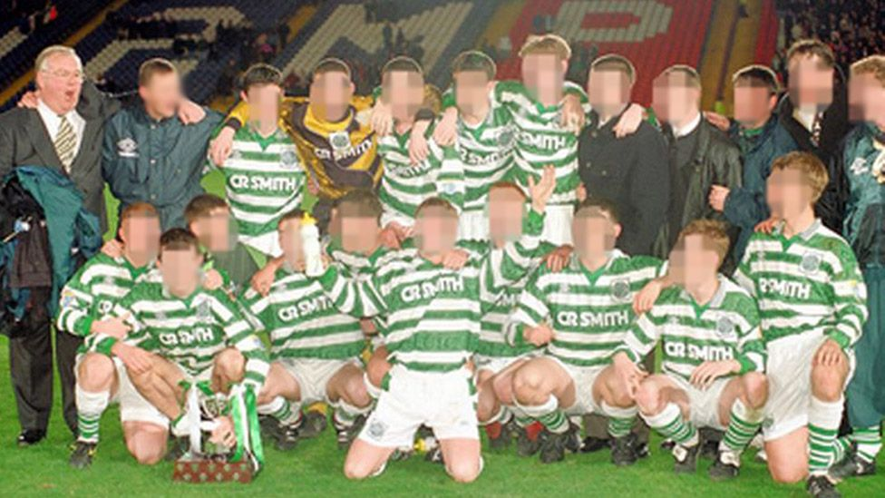 McCafferty with a Celtic youth team