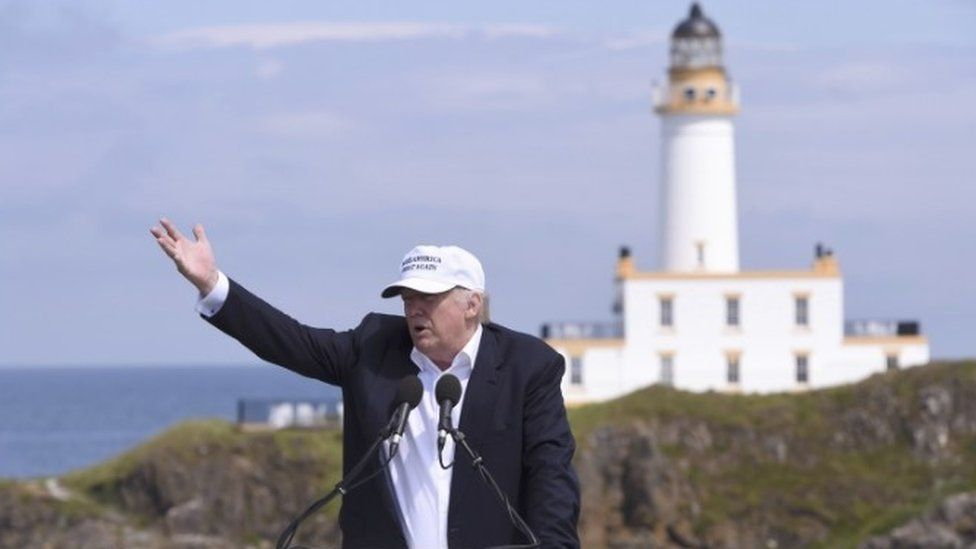 Donald Trump's news conference at Turnberry