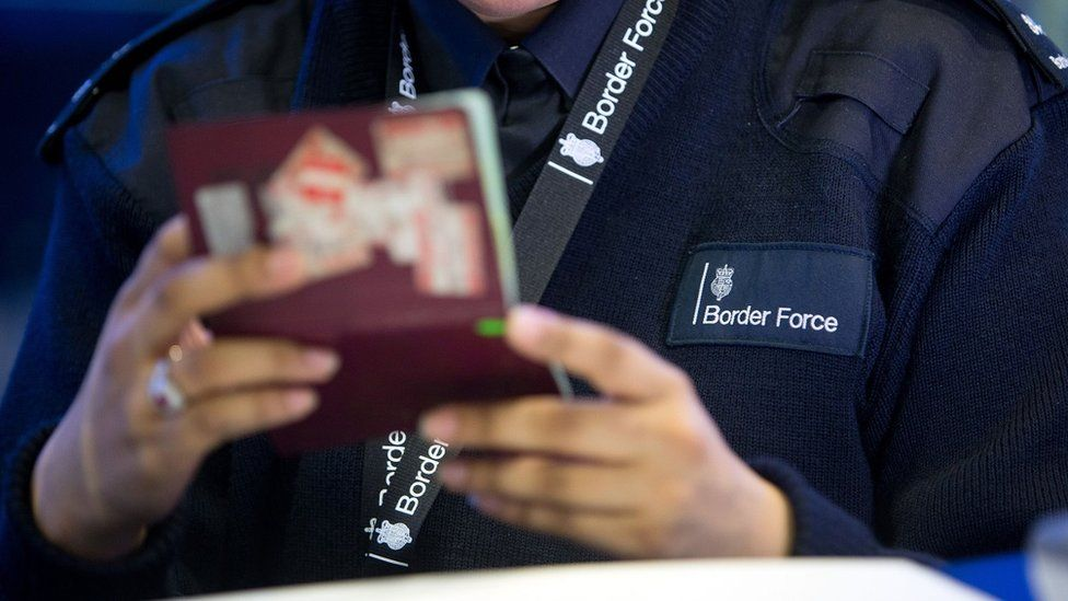 Generic image of a Border Force worker