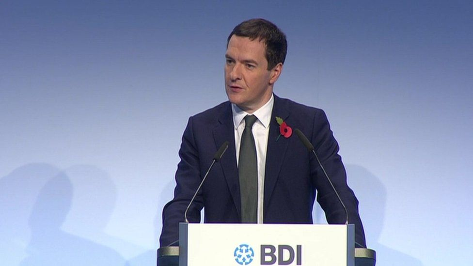 George Osborne speaking in Germany