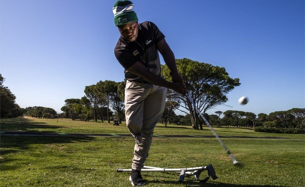 Simo Mdudu at the King David Mowbray golf course in Cape Town, South Africa, on 18 February 2020.
