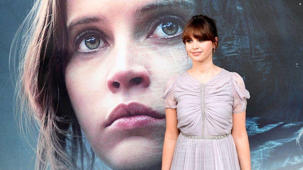 Felicity Jones at screening of Rogue One