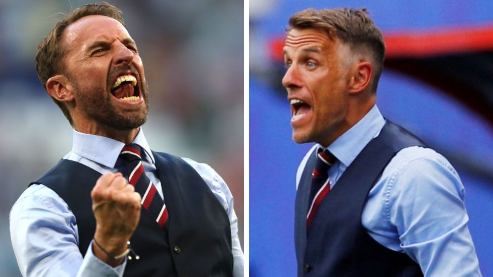 Gareth Southgate and Phil Neville