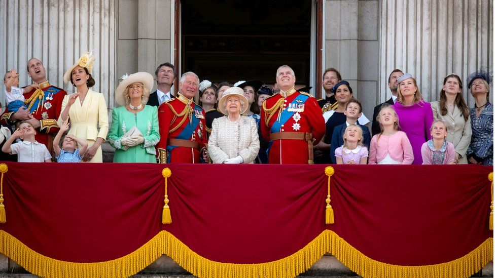 Members of the Royal Family on the Queen's official birthday