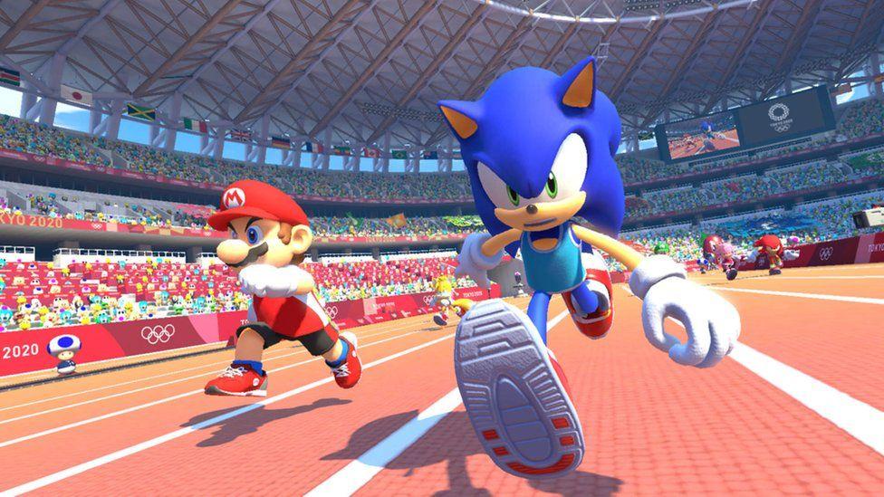 Sonic y Mario Racing