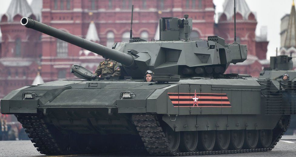 Armata tank in Red Square, Moscow, 9 May 2017