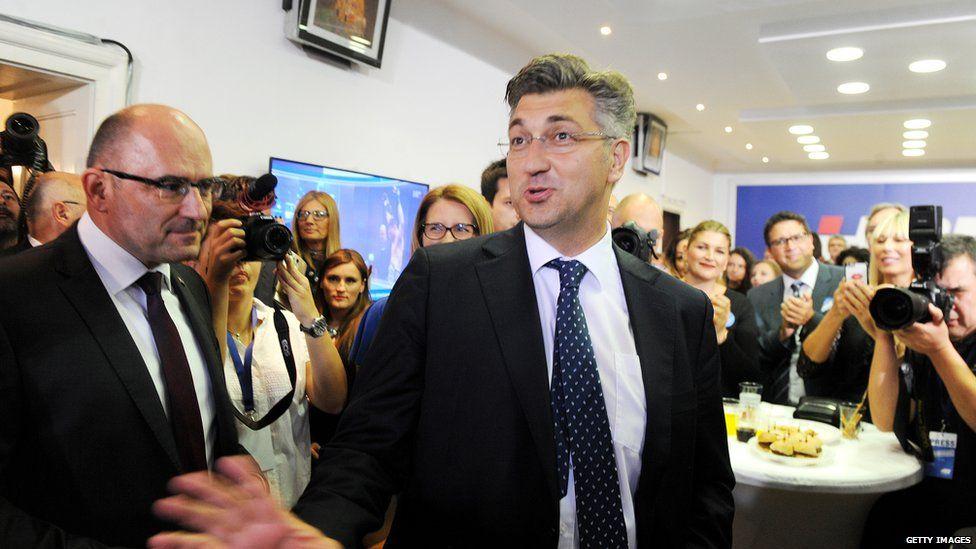 Croatian premier-designate Andrej Plenkovic