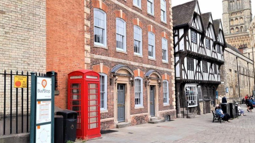 The red phone box in Lincoln
