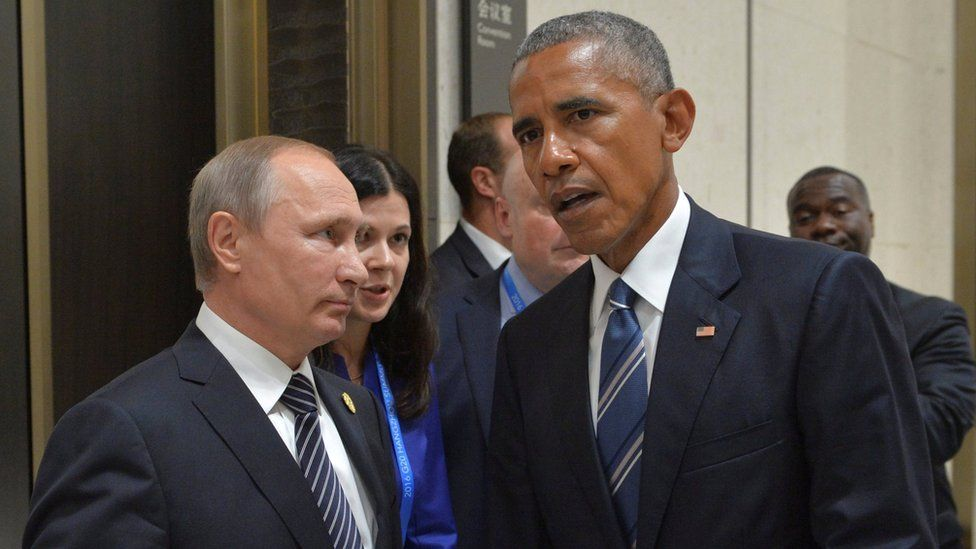 Vladimir Putin speaks to Barack Obama on the sidelines of the G20 Summit in Hangzhou, China