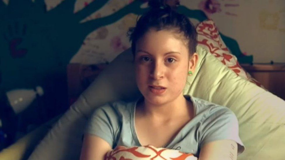 Amy-Claire Davies aged 15