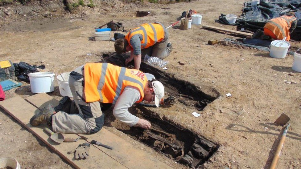 Archaeologists at Great Ryburgh in Norfolk