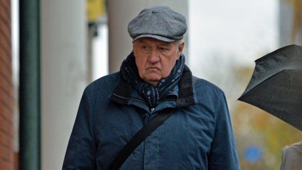 David Duckenfield arriving at court 01/04