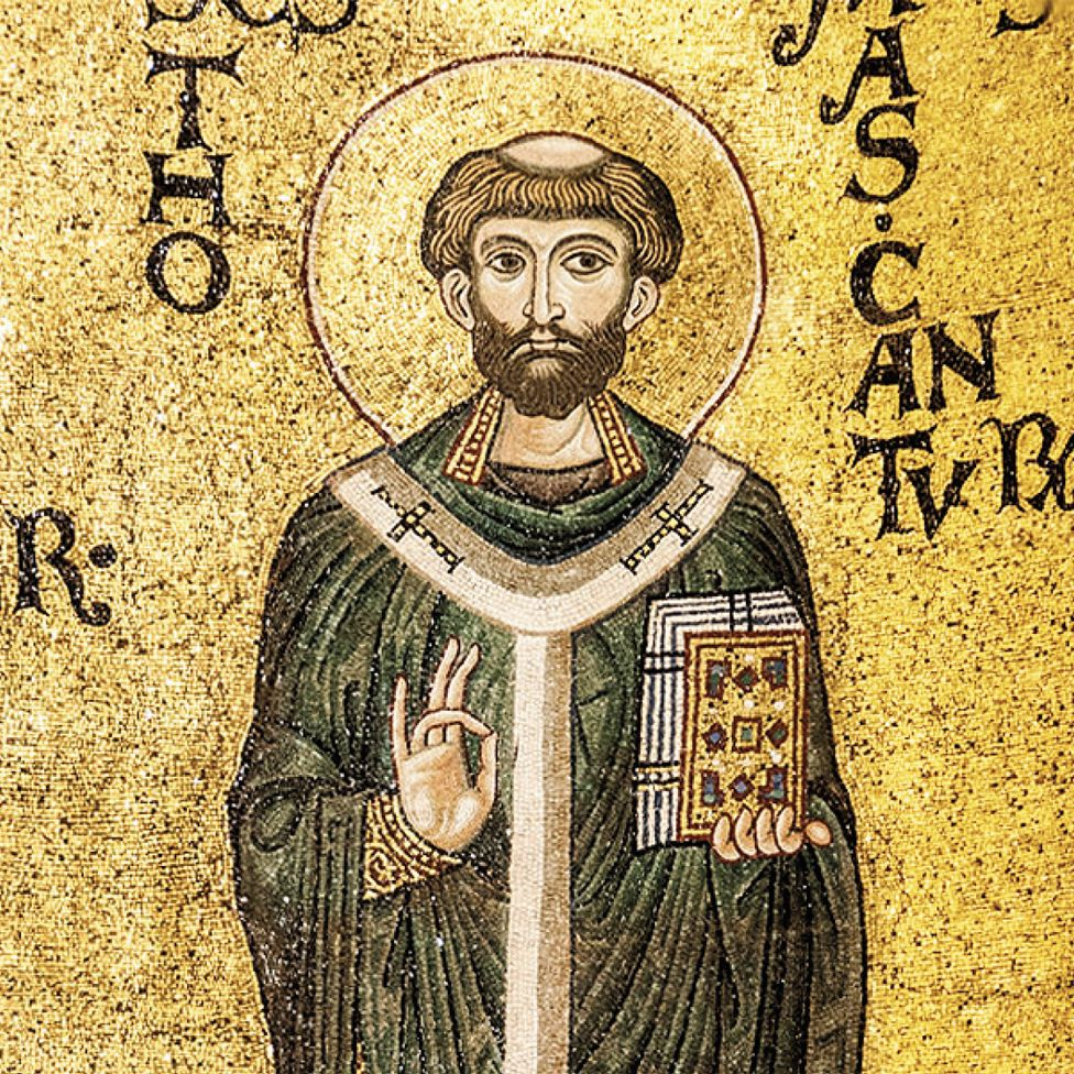 Twelfth-century mosaic of St Thomas in the cathedral of Monreale, sicily