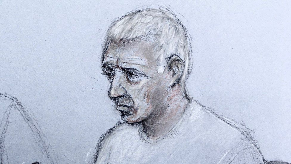 Court sketch of John Crilly
