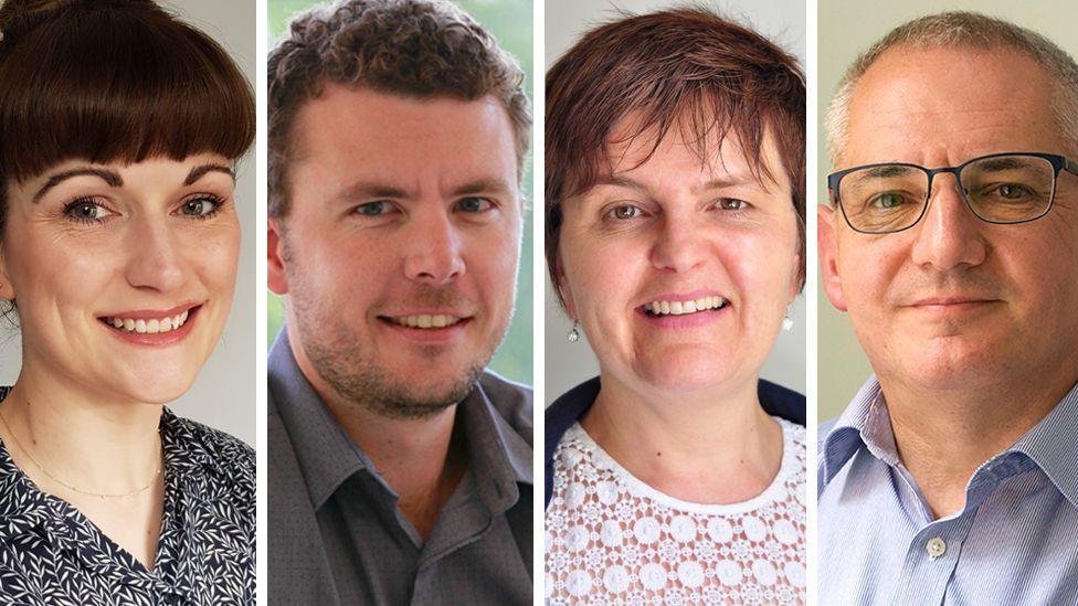 Experts Joanne, Courteney, Catherine and Eddie (l-r)