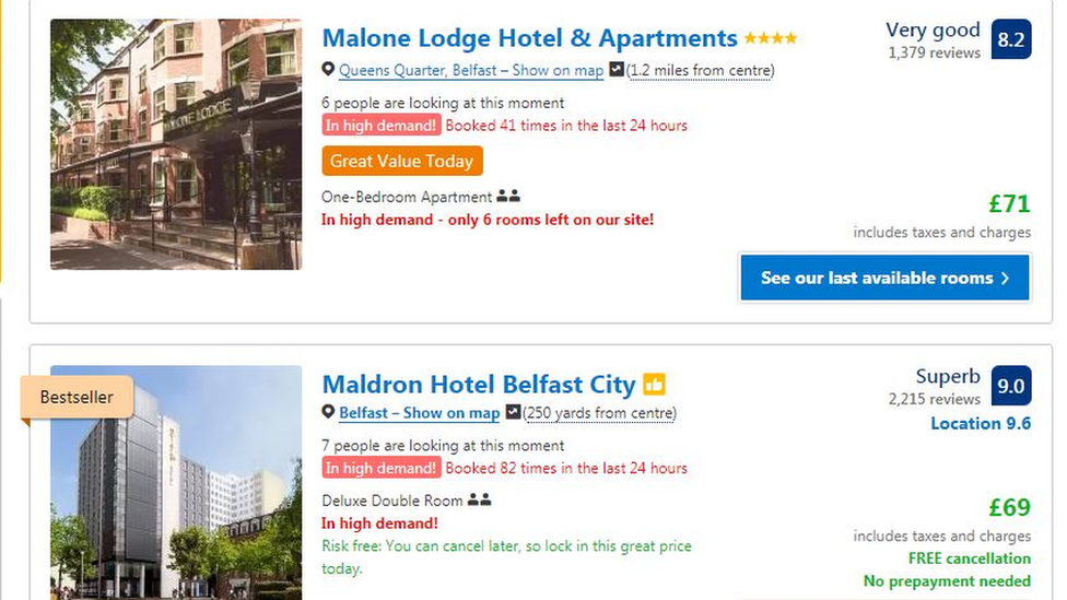 Which? claims the website is still falsely representing the popularity of rooms