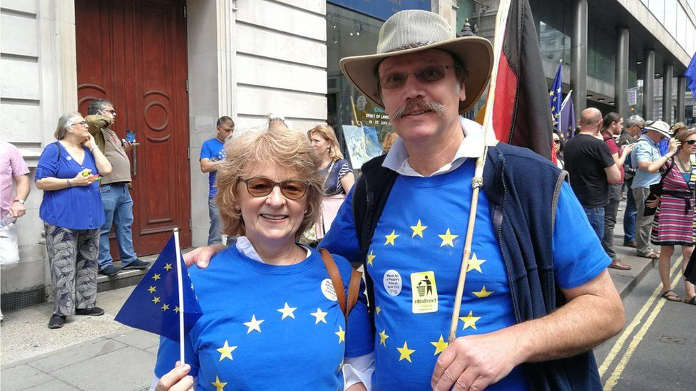 NHS doctor Horst-Dieter Haas, from Germany (right) with his wife, Lesley (left).