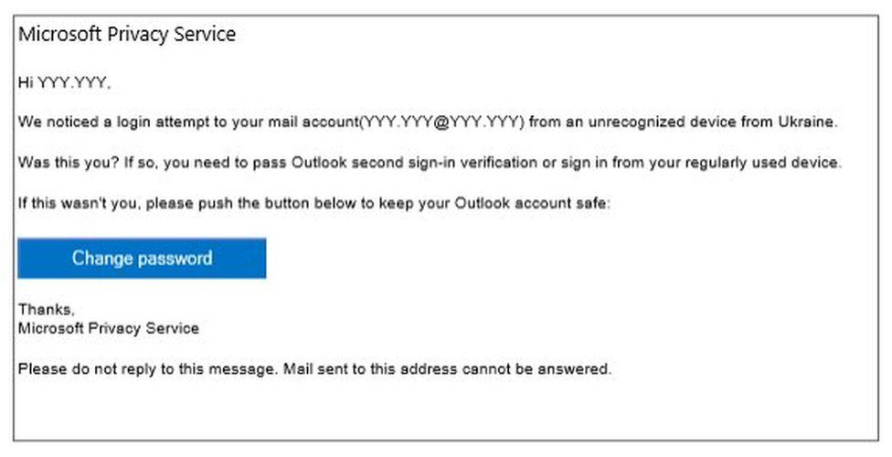 Spoof email