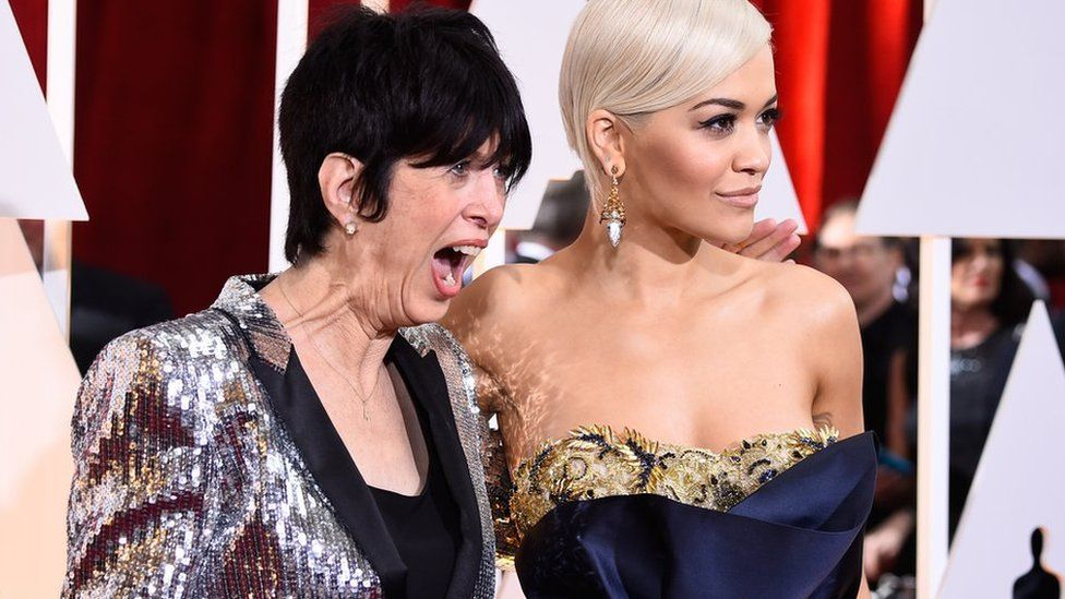 Diane Warren with Rita Ora at the Academy Awards in February