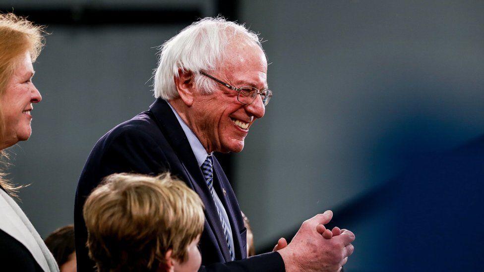 Bernie Sanders night of New Hampshire win