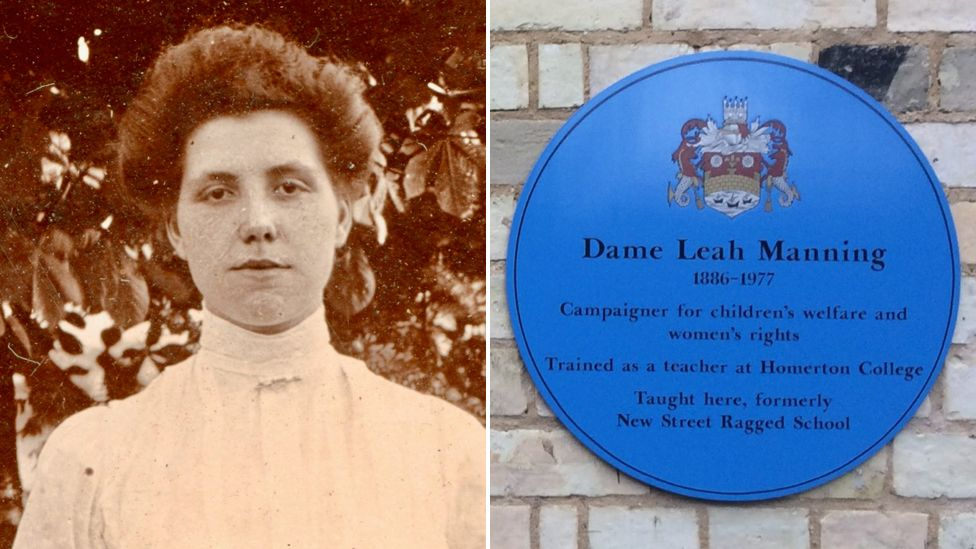 Leah Manning and blue plaque