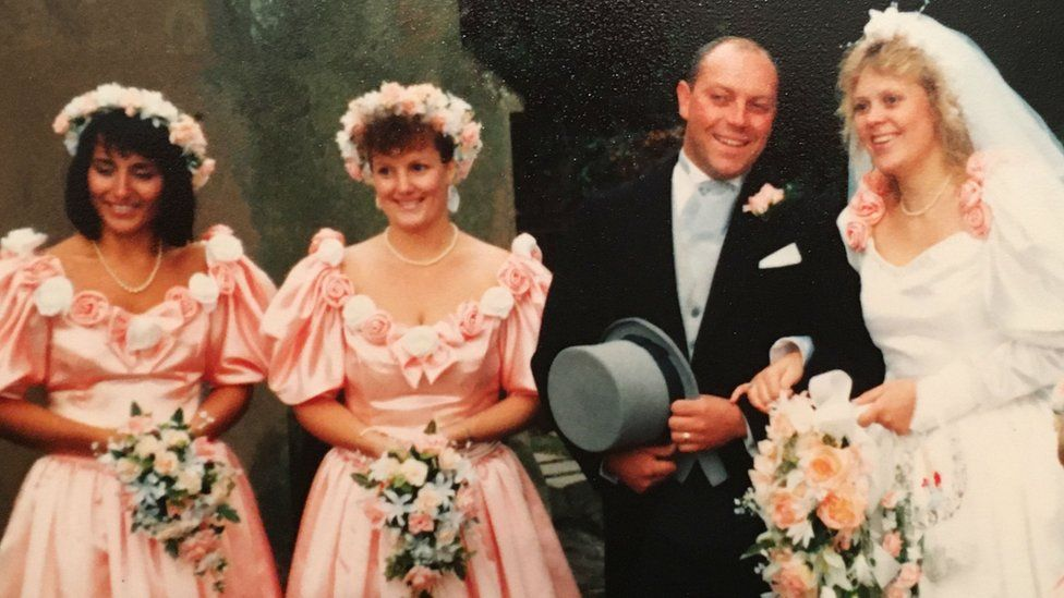 Griggs' wedding day