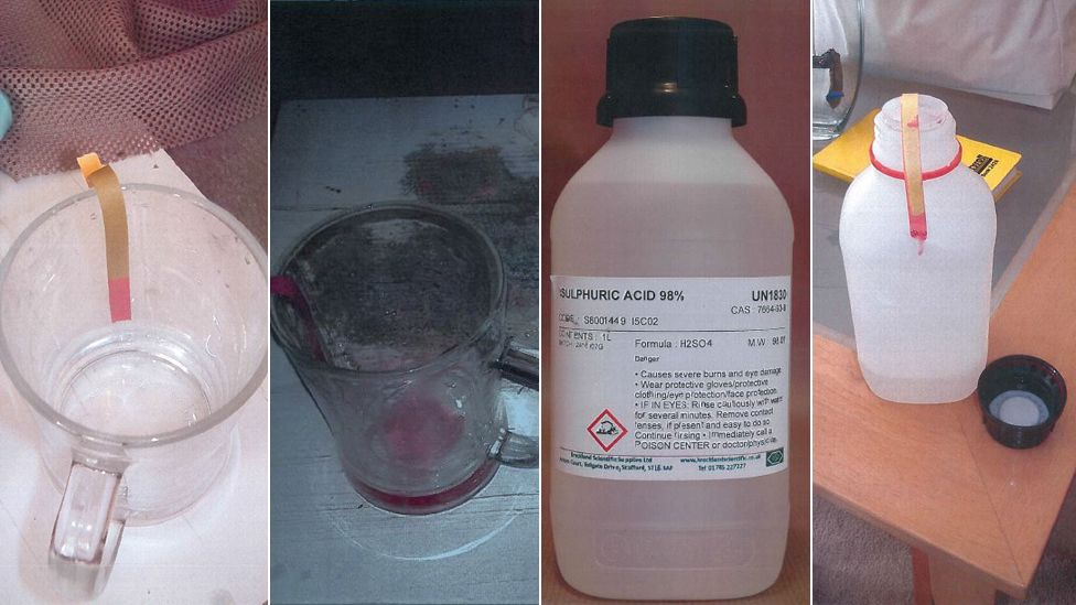 Glass and sulphuric acid bottle