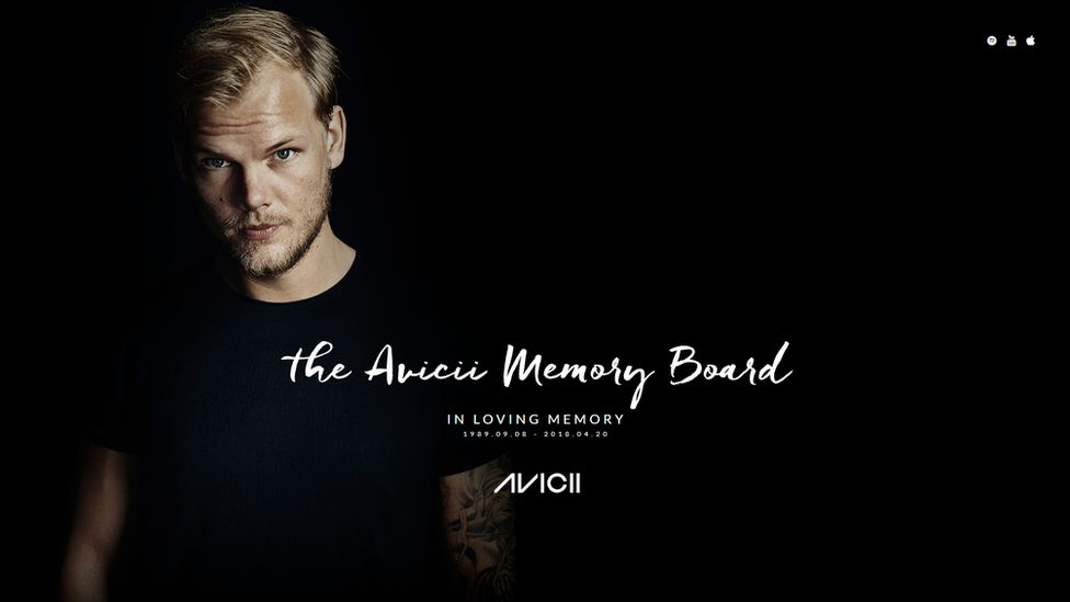 The Avicii memorial website