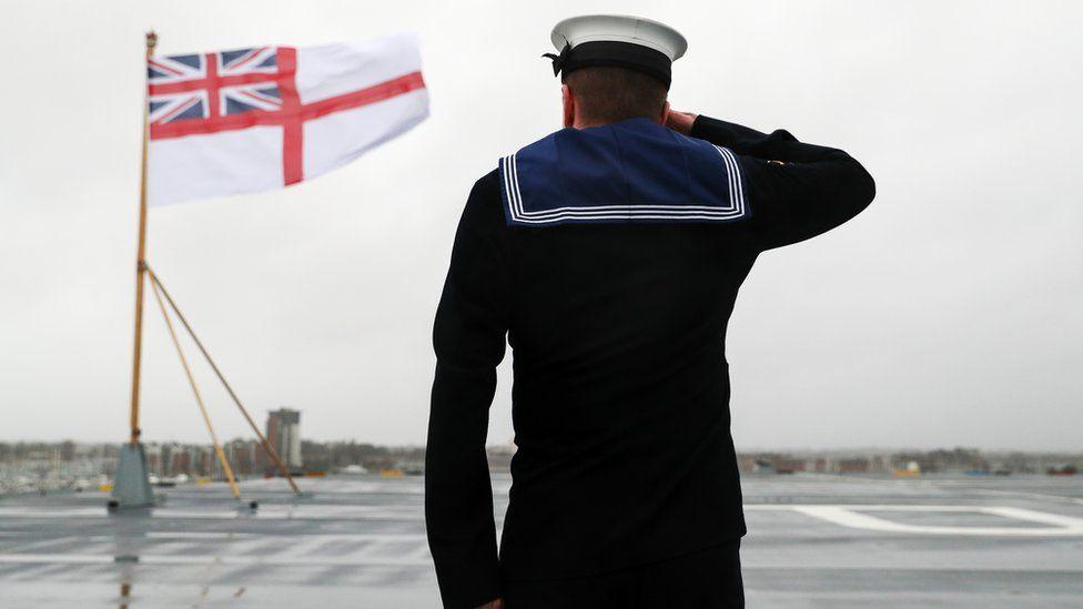 A member of the Royal Navy