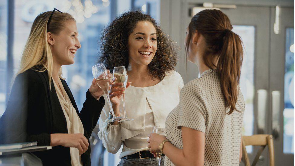Women drinking after work