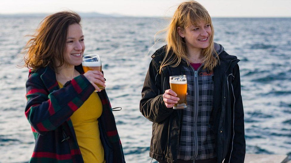 Brlog Brewery's Ana Teskera, left, and a colleague