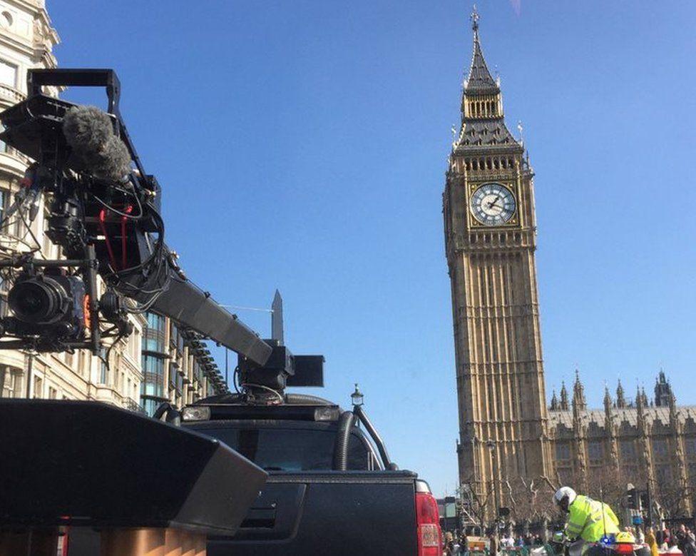 Matt LeBlanc in Parliament Square