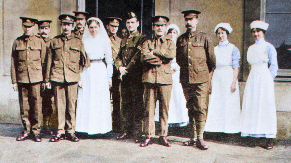 Nurses and soldiers