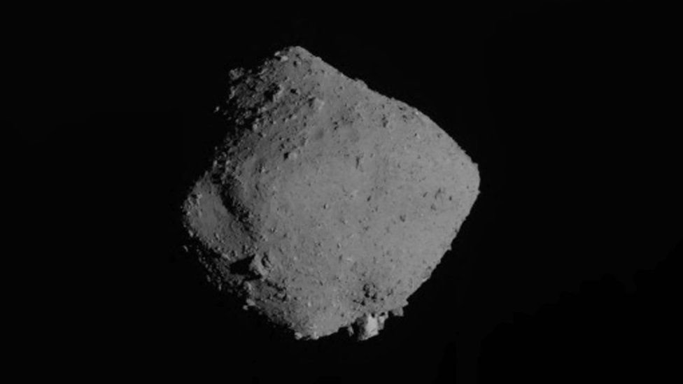 An image of the Ryugu asteroid