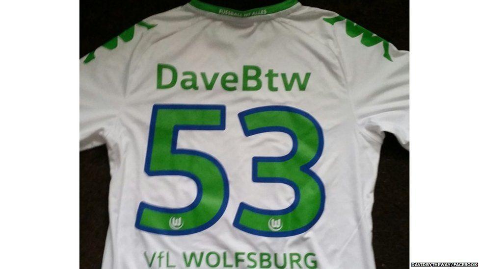 David's personal Wolfsburg jersey