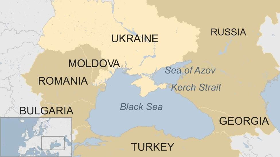 Ukraine-Russia clash: Nato's dilemma in the Black Sea - BBC News on zaporozhye russia map, simferopol russia map, kassel russia map, chisinau russia map, kirovsk russia map, crimean mountains russia map, dubrovnik russia map, donetsk russia map, baku russia map, sevastopol russia map, astana russia map, stavropol russia map, vilnius russia map, komsomolsk russia map, samarkand russia map, primorsk russia map, rovno russia map, warsaw russia map, leipzig russia map,