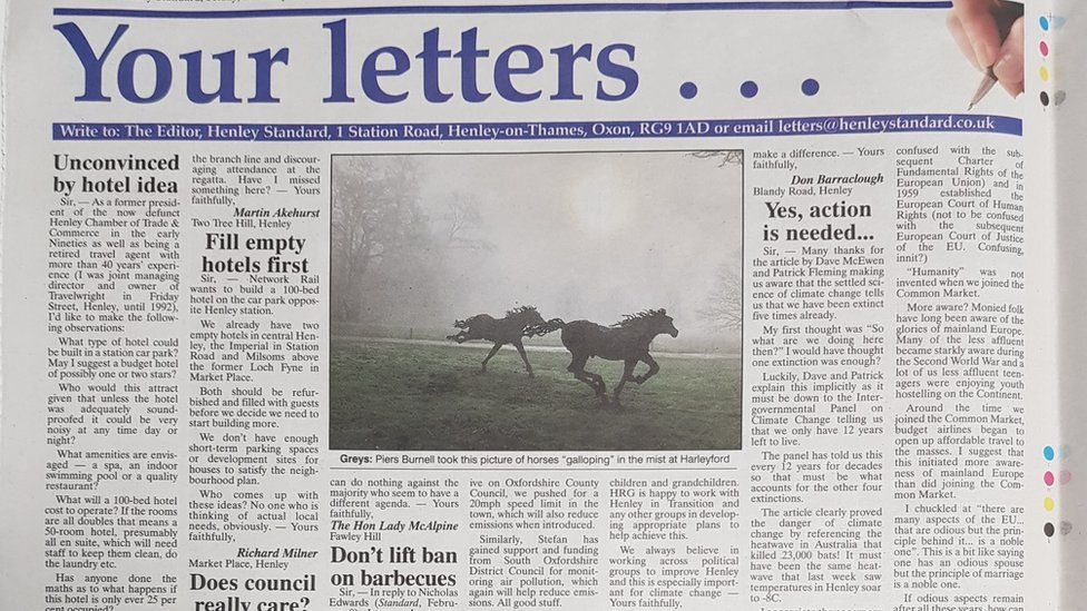 Henley Standard letters page